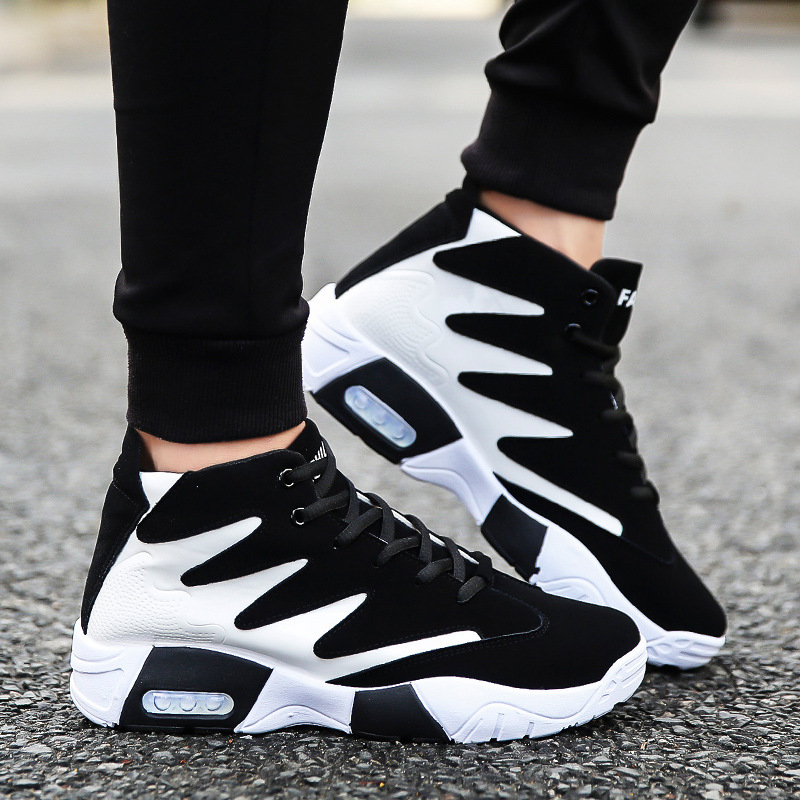 summer men's shoes student color matching Korean fashion sneakers men's high-rise high-rise leisure running shoes wholesale(China)