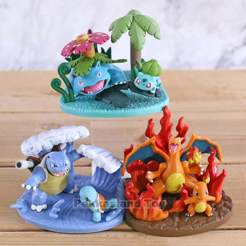 Monsters Center Squirtle Blastoise Charmander Charizard Bulbasaur Venusaur PVC Figures Toys Children Kids Gifts 3pcs/setMonsters Center Squirtle Blastoise Charmander Charizard Bulbasaur Venusaur PVC Figures Toys Children Kids Gifts 3pcs/set