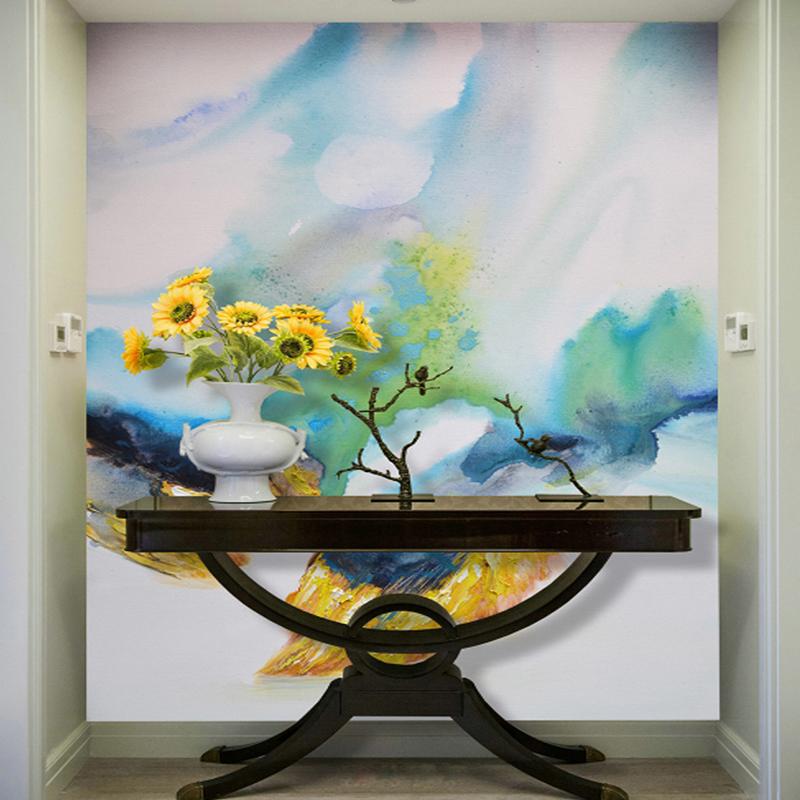 Benutzerdefinierte Foto Wandbilder Wohnzimmer Wohnkultur Holz Tapete 3d Sonnenblumenl Malerei Mural Tapeten GrsseChina