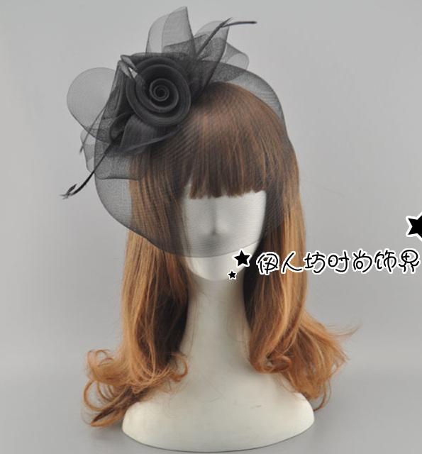 2016 preto branco de casamento baratos chapéus acessórios de noiva nova chegada Hot venda de casamento do Vintage acessórios de cabelo desgaste cabelo