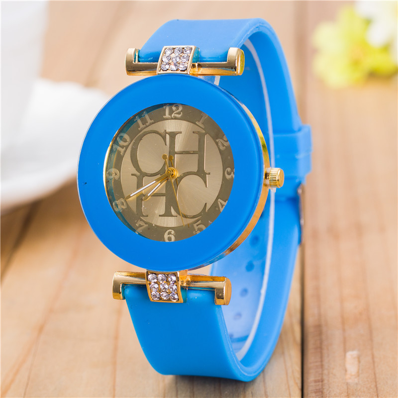 New Fashion Brand Gold Geneva Casual Quartz WristWatch Women Crystal Silicone Watch Relogio Feminino ladiy Dress Watch Hot Sale burei 2017 top brand men women dress quartz watch new hand couples table canvas fashion casual clock wristwatch hot sale gift