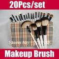 Drop Shipping 20Pcs/set  Professional Makeup Brush Set Cosmetic Make up Brush Eye Shadow Makeup Brushes 3set/lot