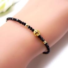 14 к цельный Золотой шпинель браслет Шарм ювелирные изделия Мини Бусы Ювелирные изделия драгоценный камень браслет модный подарок для девочек сестры и женщин