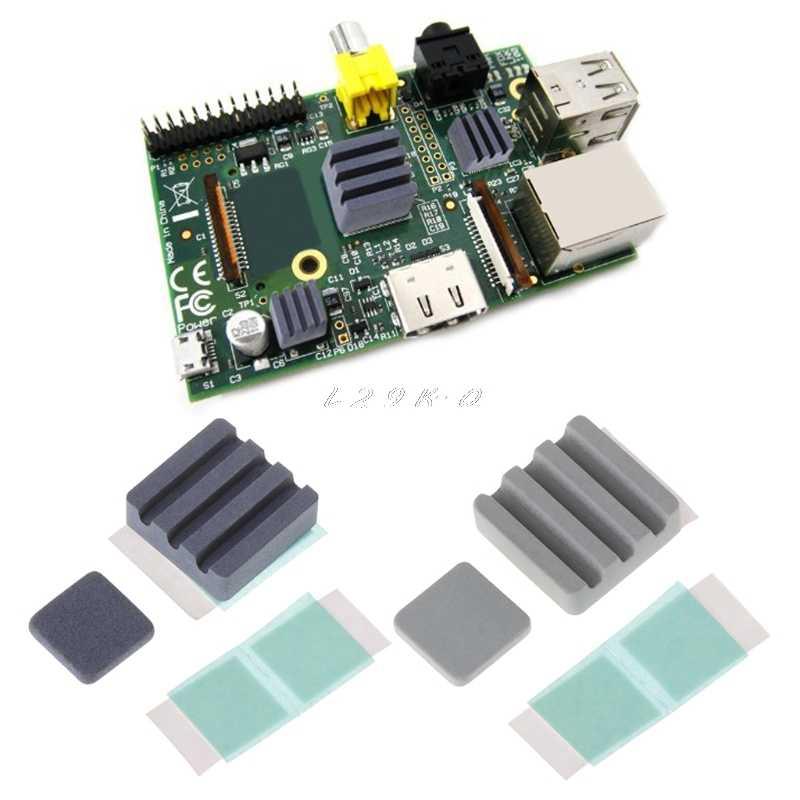 2PCS Silicon carbide Ceramic Heat Sinks CPU Cooling dissipador for Raspberry Pi3