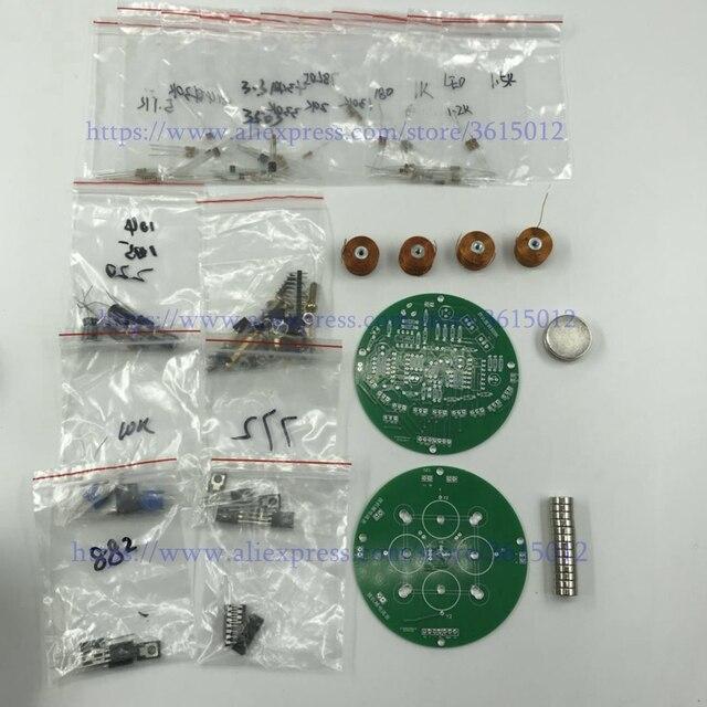 Circuito analógico inteligente diy kit de levitação magnética tipo push sistema de simulação de suspensão magnética