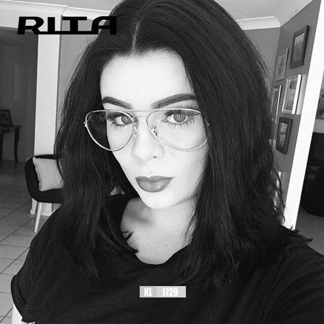2017 RITA Moda Oversize mulheres frame ótico lente clara homens grande  Espetáculo Óculos de Leitura Óptica 0fbff71d3b