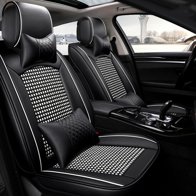 Universal Leather Ice Silk Car Seat Cover Car Seat Protector For - Acura tl seat covers