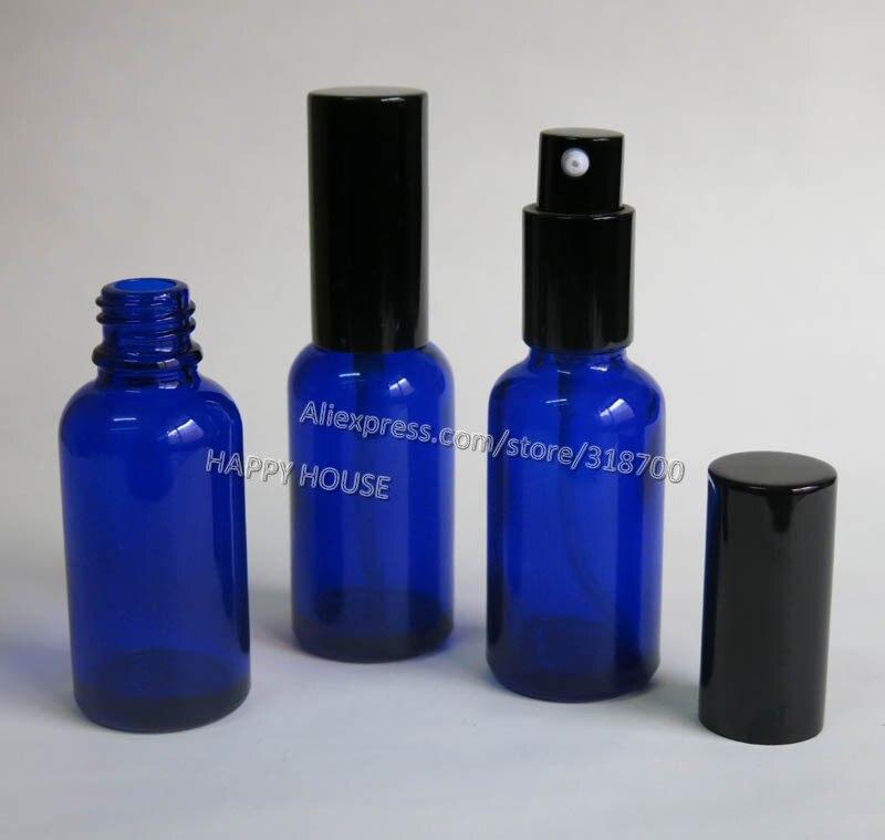 bc8f43f3fc0 360 x 30ml Cobalt Blue Glass Lotion Pump Bottle 30cc Glass Essential Oil  Bottle With Pump.