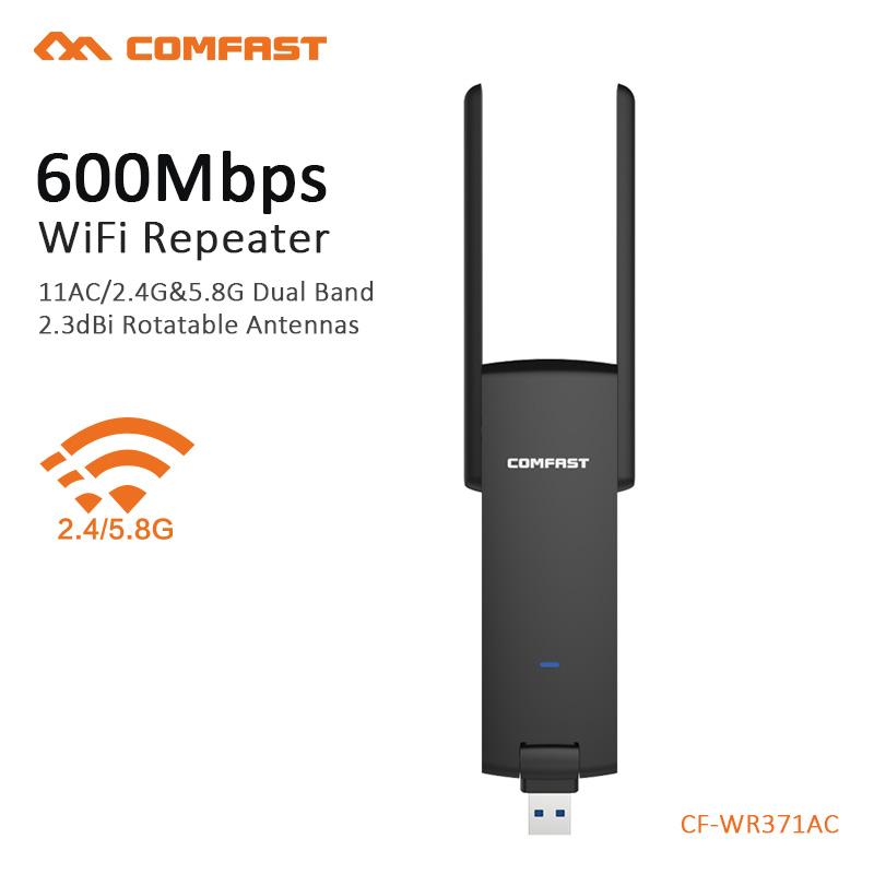COMFAST wireless usb repeater AC 600mbps wifi usb antenna portable wi fi signal amplifie ...
