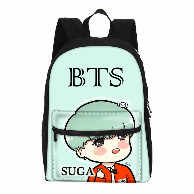 aeb7a8c301 VEEVANV 2018 New School Bag For Girls Cute Cartoon BTS 3D Printing Backpacks  Bigbang GD Shoulder Bags Teenage Canvas Bag Mochila