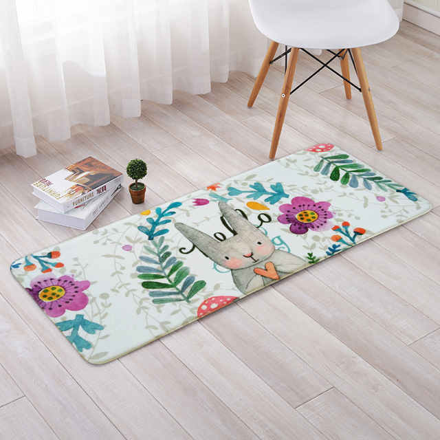 Children S Room Bath Mat Everything Kitchen Alfombra Area Soft Polyester Rugs Home Geometric Living Flowers