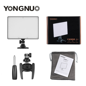 Image 5 - YONGNUO YN 300 YN300 Luft Kamera LED Video Licht Panel Auf Kamera 3200 karat 5500 karat mit Batterie Ladegerät für canon Nikon Live Stream