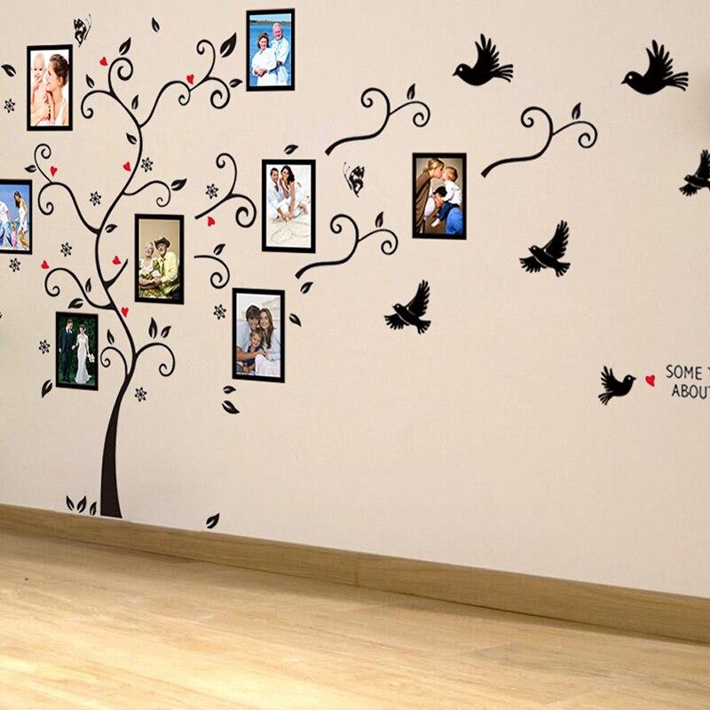 Большие размеры фото Любовь ПВХ стены стикеры Дерево гостиная спальня 140 см * 280 см/55 * 110 росписи искусство домашнего декора