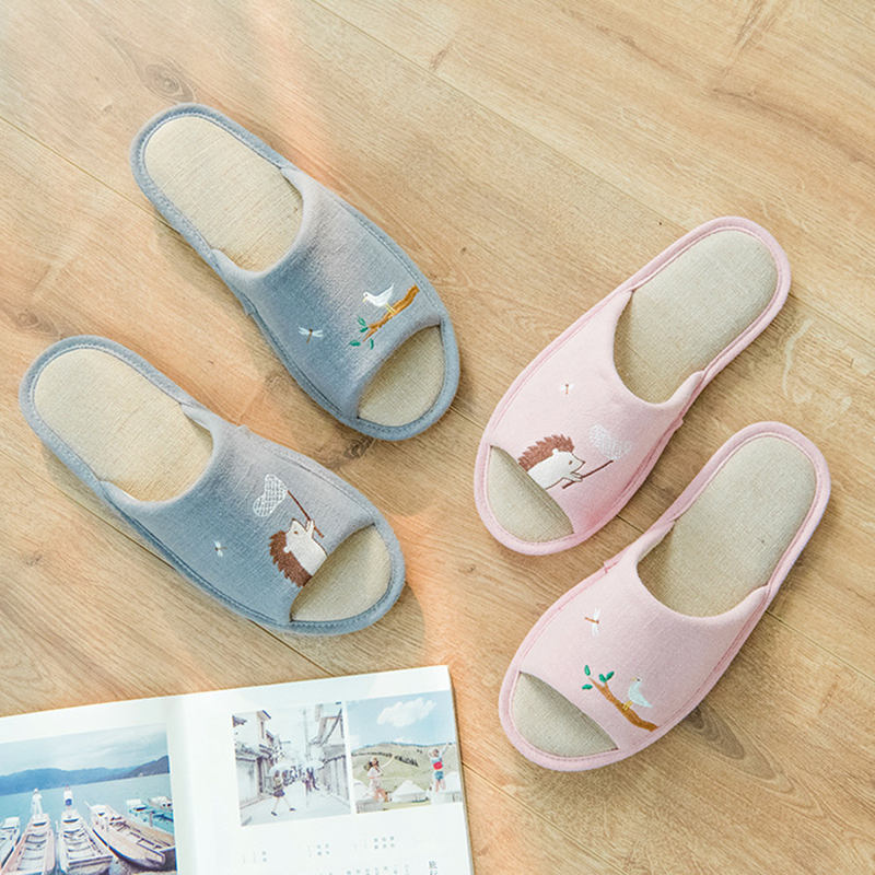 alxt363 4 Maison Hérisson 5 Alxt363 alxt363 Zapatos Toe Pantufa 1 alxt363 Couples Chinelo Peep Plate Chaussures 2 Mujer Broderie forme Pantoufles Femmes Mules 3 alxt363 Cuye Diapositives xFSwS