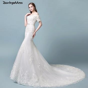 vestidos de novia vintage sirena 2018 encaje sirena vestido de novia