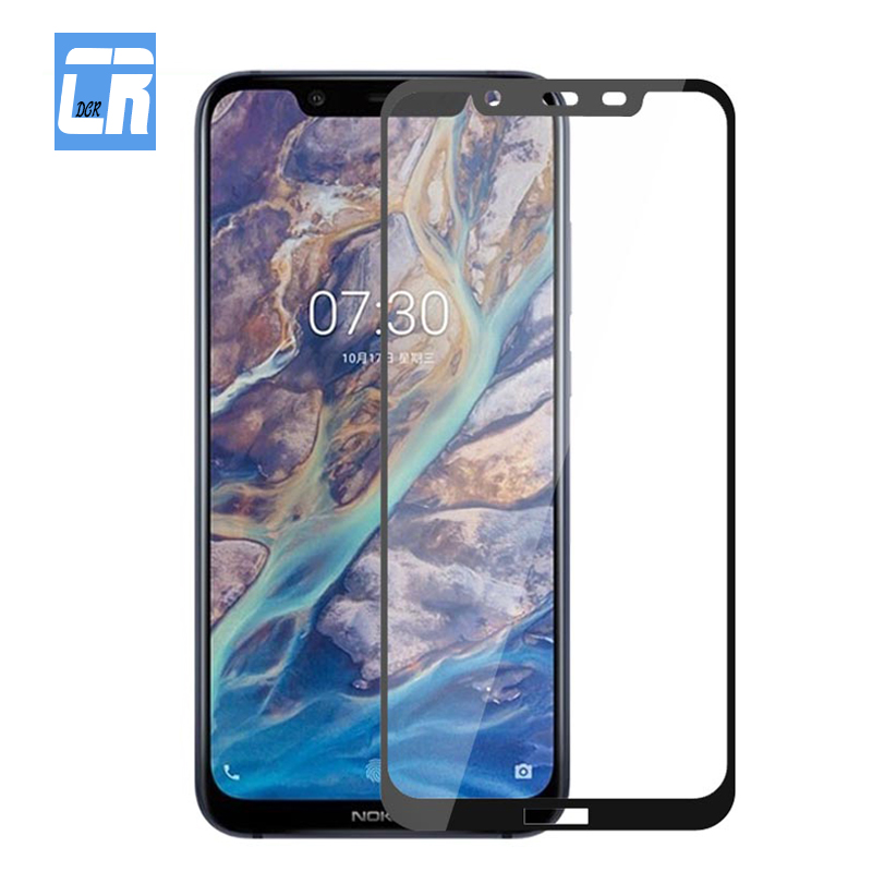Full Cover Protective Glass for <font><b>Nokia</b></font> 8 5 6 2018 X7 X6 X5 <font><b>Screen</b></font> <font><b>Protector</b></font> for <font><b>Nokia</b></font> 8.1 3.1 7.1 <font><b>2.1</b></font> 6.1 5.1 Plus Tempered Glass image
