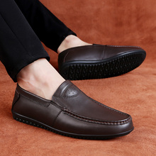 Brand New casual shoes men loafers spring and autumn mens moccasins shoes genuine leather men's flats shoes  5