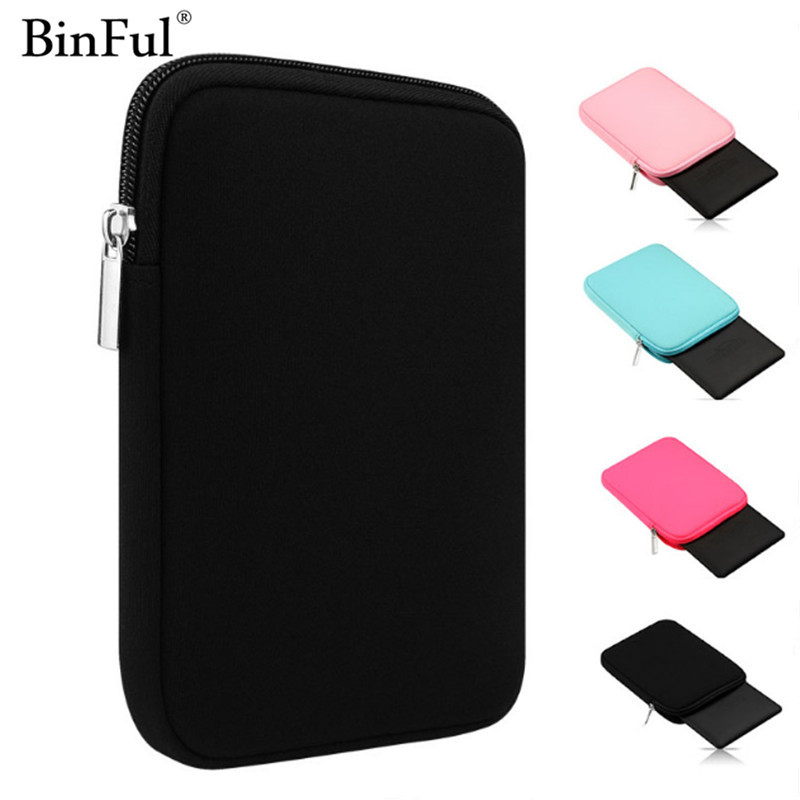 BinFul Soft Tablet Liner Sleeve Pouch Bag for iPad Mini 1/2/3/4 Air 1/2 Cover Case for iPad Pro 9.7 New iPad 9.7 for Kindle 6 for ipad air 1 2 cute candy color soft silicone tablet case cover for ipad 5 6 mini 2 3 fashion slim lovely protective sleeve