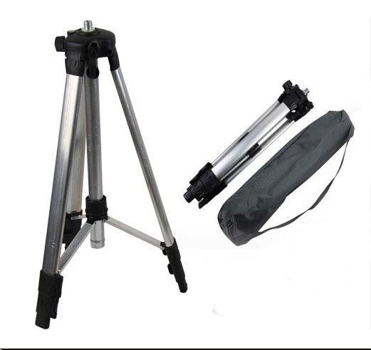 ФОТО Portable  11m Adjustable Height thicken aluminum Tripod 5 8 male threads laser level tripod
