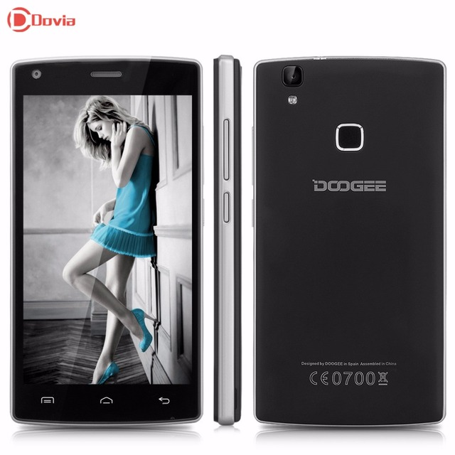 DOOGEE X5 MAX Pro 5.0 inch 4G Smartphone Android 6.0 MTK6737 Quad Core 1.3GHz 2GB RAM 16GB ROM Fingerprint Sensor Mobile Phone