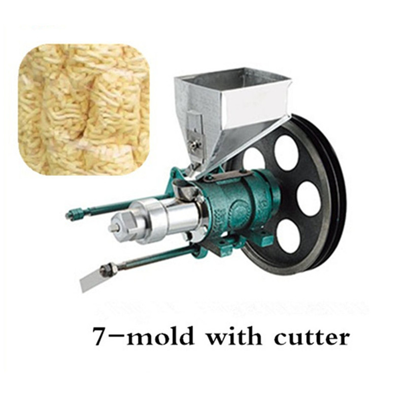 Maize puffed food extruder corn rice puffing extrusion with 7 molds to make puff snacks machine