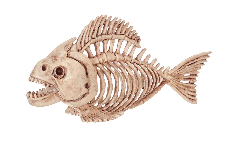 fantasy bone skeleton fish home halloween party decoration-in