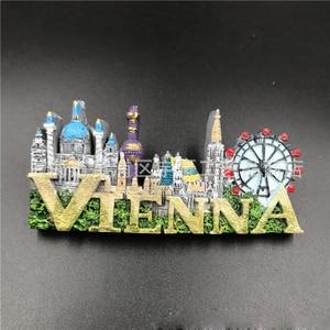 Image 4 - 1Pcs Fridge Magnet Sticker Creative Dubai VERSAILLES GREECE  VIENNA Tourist Souvenir Refrigerator Stickers For Home Decor