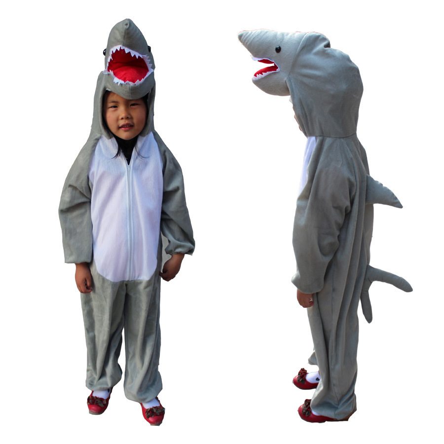 KIDS Shark Onesie Pajamas Onesie boy girl Anime Pajamas Costume unisex Child Onesie Sleepwear Halloween Carnival Party Costume
