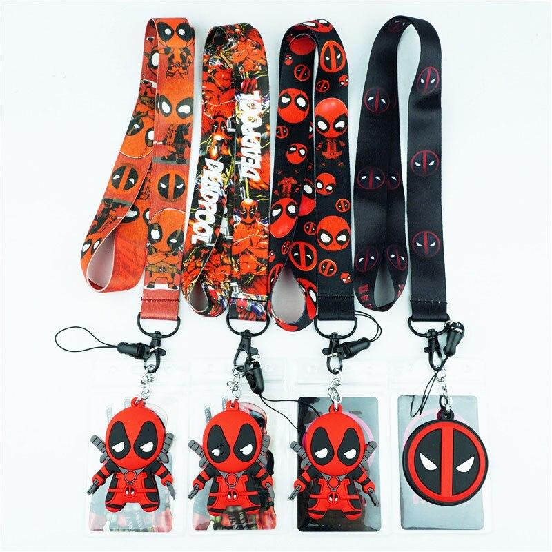 Superhero Deadpool Neck Strap Lanyards For Keys ID Card Gym Mobile Phone Strap USB Badge Holder Rope Pendant Key Chain Gift