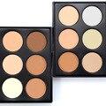 Lo nuevo 6 Color Nude Paleta de Maquillaje En Polvo Fundación Corrector Contorno Cara Contorno Cosmético maquillaje