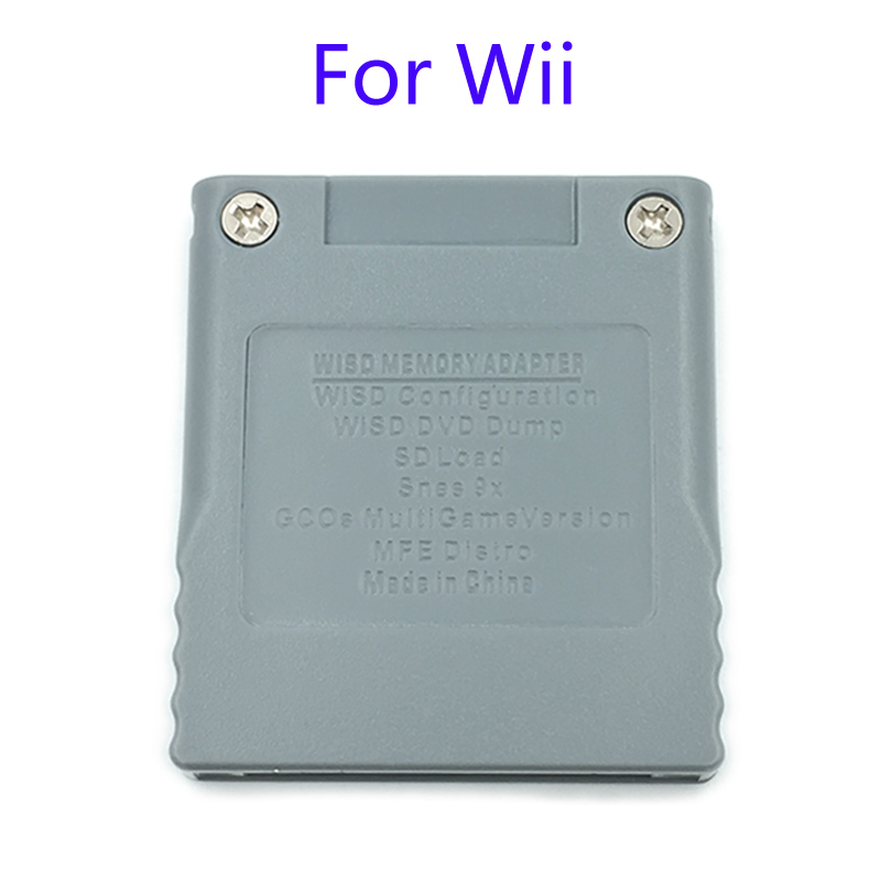 6Pcs Brand New SD Flash WISD Memory Card For Nintendo Wii Adaptor Converter Adapter Card Reader For Wii GC GameCube Game Console