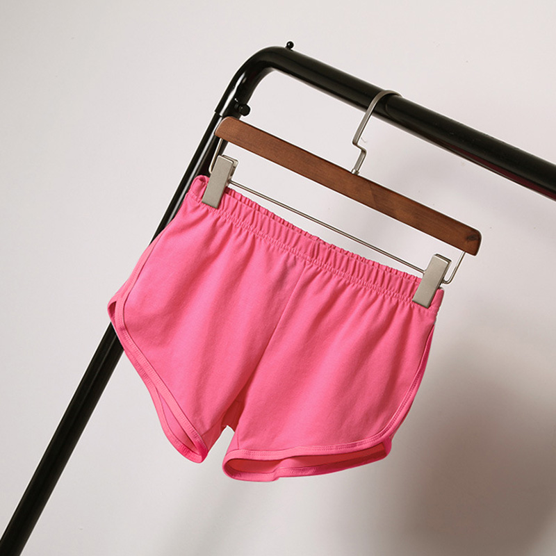 Best Sell Street Summer Women Elastic Waist Elastic Short Women's Shorts Girls Casual Loose Solid Soft Casual Short Hot