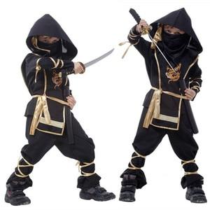 Image 1 - Kids Ninja Costumes Halloween Party Boys Girls Warrior Stealth Children Cosplay Assassin Costume