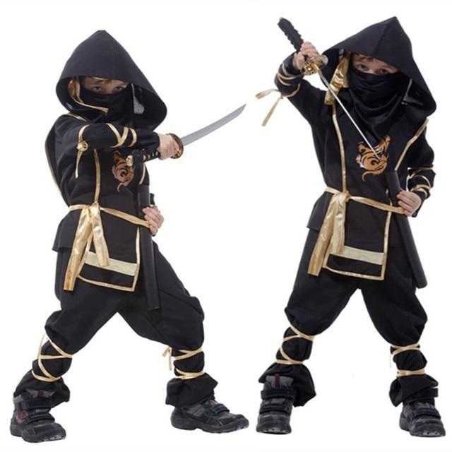 Kids Ninja Costumes Halloween Party Boys Girls Warrior Stealth Children Cosplay Assassin Costume