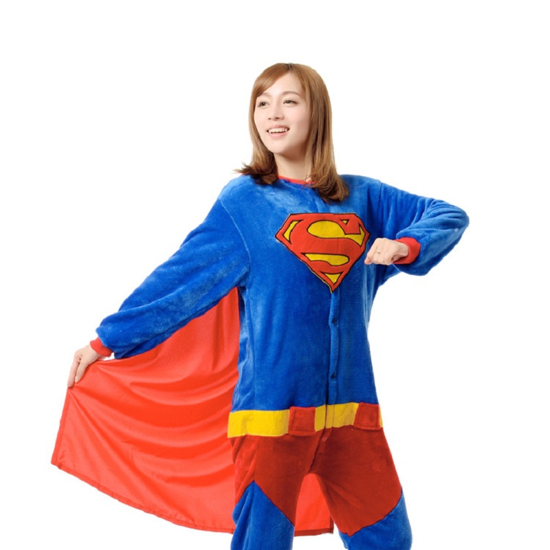 Sexy Girls Woman Superman Cosplay Costume Superhero Supergirls Costume With Cloak For Halloween Purim Party Event Full Outfit Cool In Summer And Warm In Winter Home