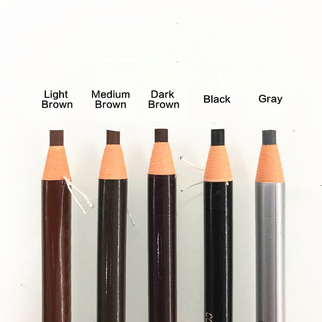 10pcs/set 5colors Available Eyebrow Pencil Shadows Cosmetics for Makeup Tint Waterproof Microblading Pen Eye Brow Natural Beauty 3