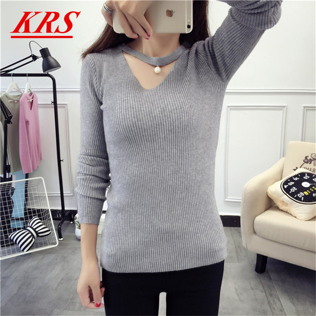Aliexpress.com : Buy High stretch Women's knitted sweater winter ...