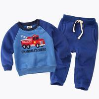 2017 Spring Fashion Children Boy Clothes Sets 2 6Y Kids Clothes Boys Child Costumes Coat Pant