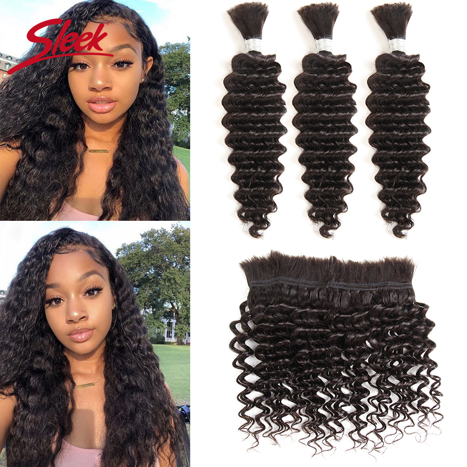 Sleek Remy Human Hair Malaysian Loose Wave Bundles Hair For Braiding In Natural Color 8 To 30 Inches Braids No Weft Hair Bulk Moderate Cost Hair Weaves