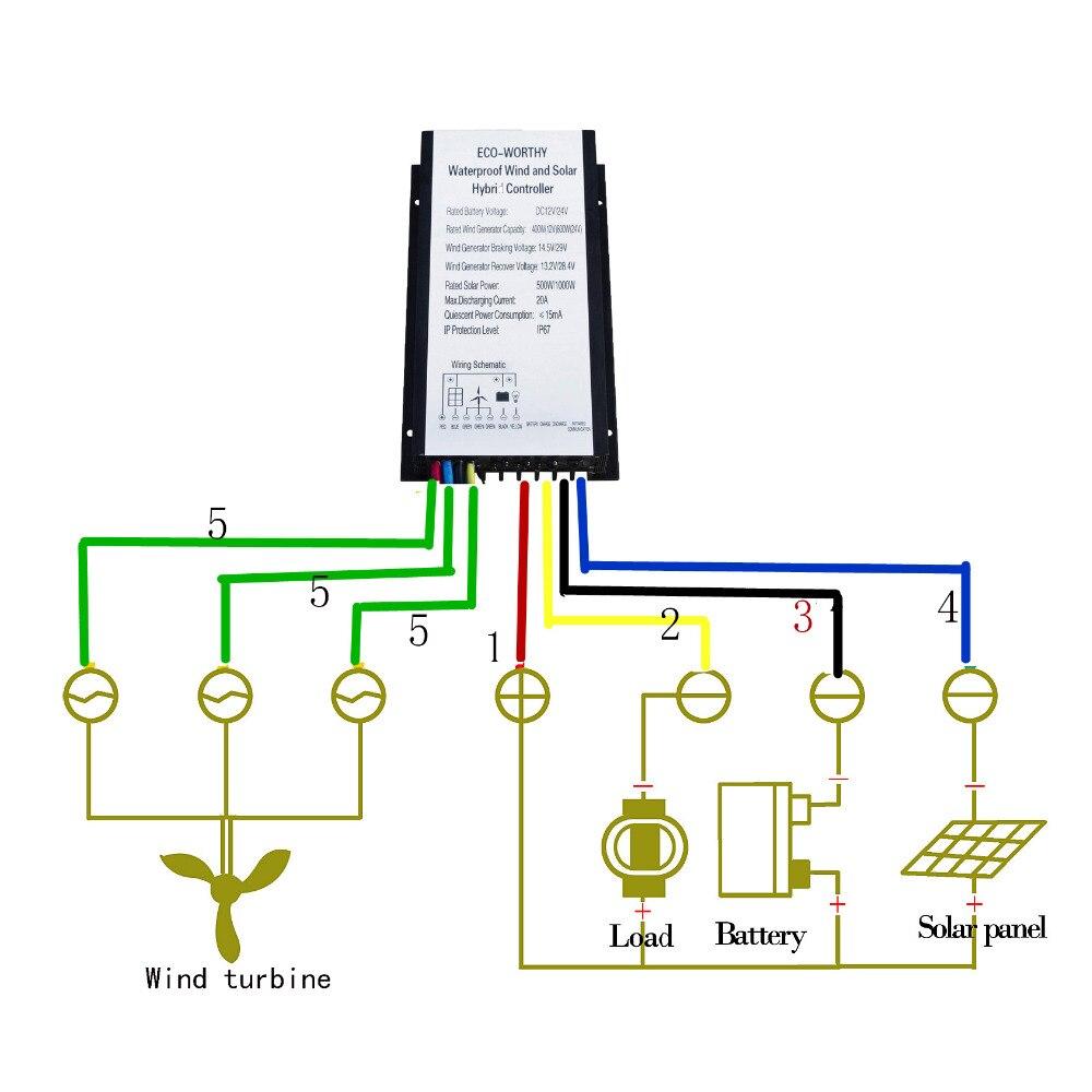 1 4kw wind system 10 100w solar panel 400w wind turbine generator rh aliexpress com