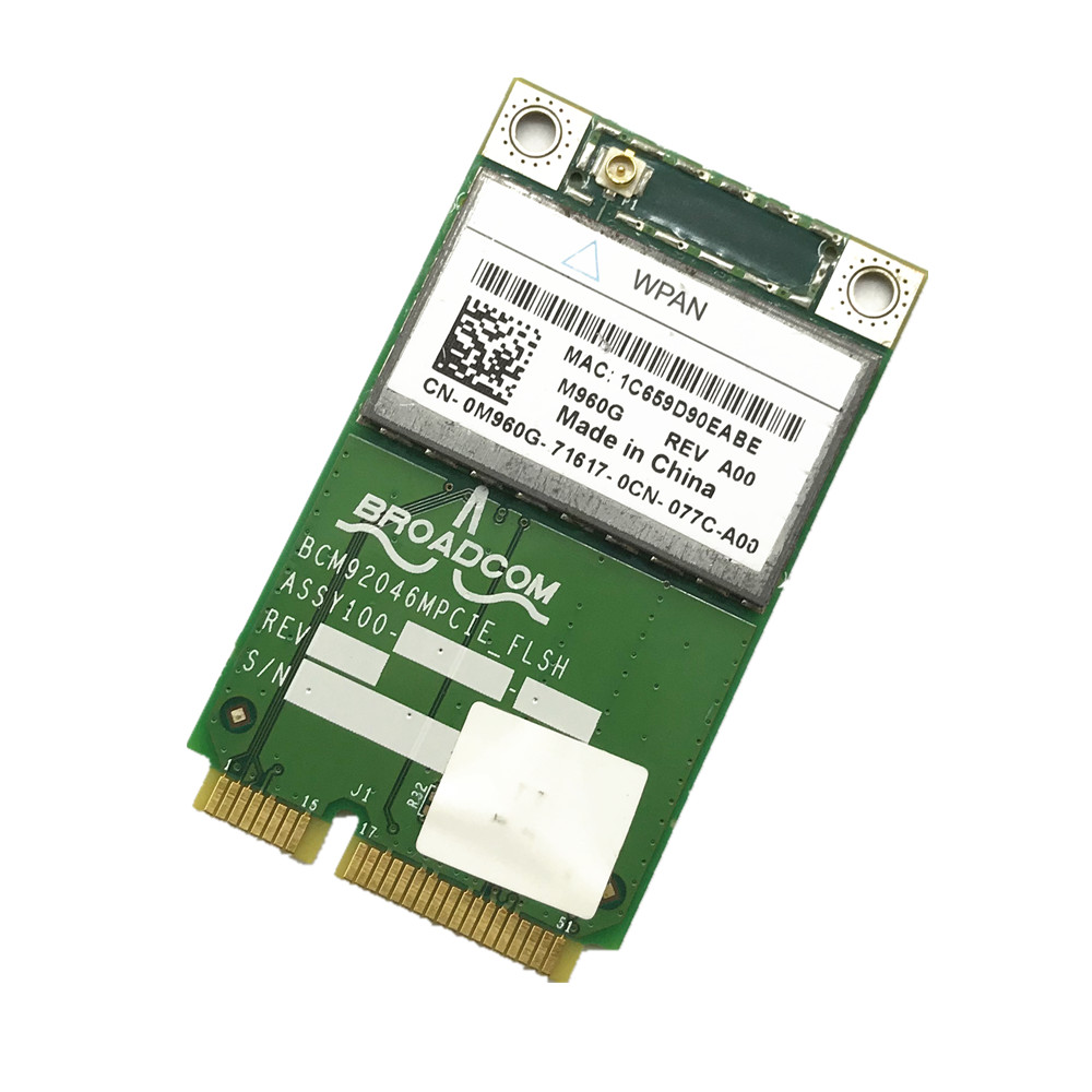 Dell Wireless 370 Bluetooth Module Latitude E5400 E5500 E6400 M2400 M4400 M6400 BCM92046MPCIE_FLSH M960G