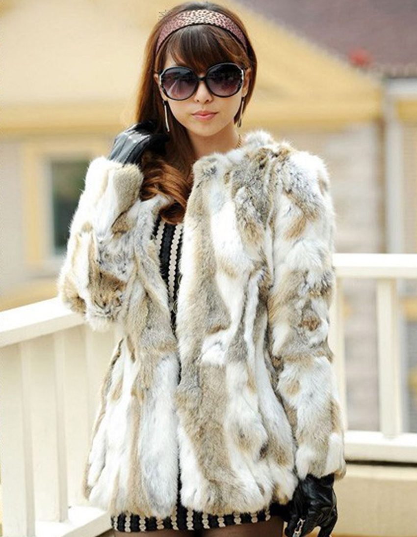 6b3d8de91b1 [Hot Sale] YCFUR Classic Style Women Coats Jackets Winter Pieces Of Rabbit  Fur Coat For Women Warm Winter Natural Fur Jacket Female Outwear-in Real  Fur from ...