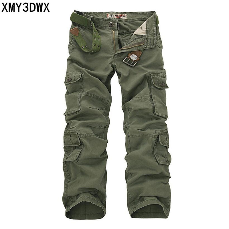 Tactical Pants Men Cotton Military Cargo Pants City Spring Army Combat Cargo Pants Casual Soldier Train Trousers Multi Pockets