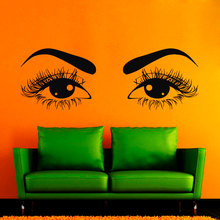 Beauty Salon Series Wall Decals Beautiful Hairdressing Hair Pretty Woman Eyes Vinyl Stickers Home Bedroom Art Decor Q-25