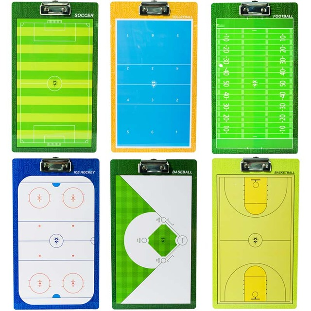 Professional PVC Tactical Board Baseball Ice Hockey Football Basketball Volleyball Soccer Coach Board With Pen Whistle