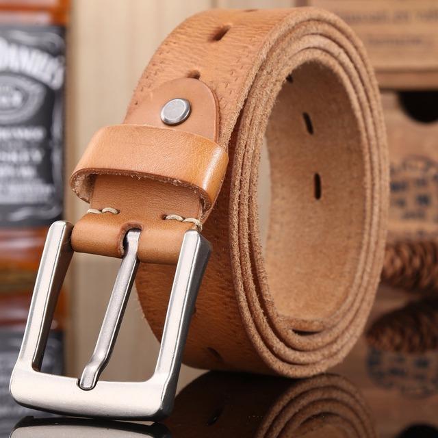 Cinturones de diseñador hombres de alta calidad de brown de lujo de tamaño grande más 100% verdadera piel de vaca plena flor genuina de cuero 140 cm 150 160 145 155