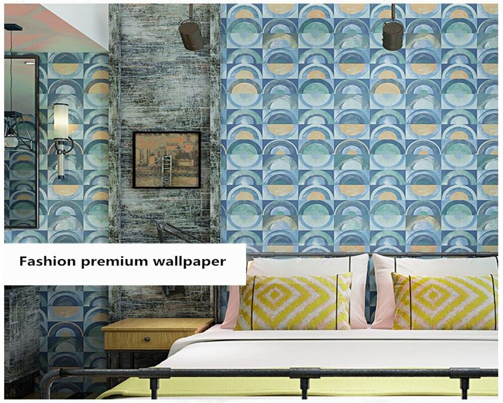Beibehang nordique papier peint nostalgique abstrait géométrique restaurant internet café KTV salon chambre fond papier peint