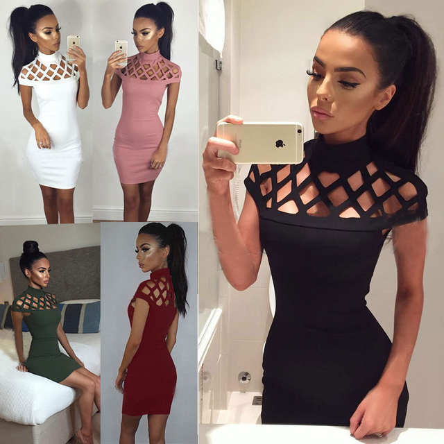 3cdfac60ffa placeholder Autumn Sexy Summer Dress Women Pink Black Color Block Tight  Fitted Dresses 2017 Ladies Sexy Bandage