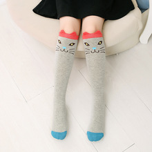 цены 1 pair Girl Socks 3-12 Years Old Cotton New  Korean Version Long Tube Princess Children's Knee Socks Kids Dance Socks