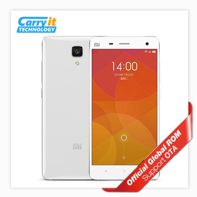 オリジナルxiaomi mi4 m4 mi 4 2ギガバイト16ギガバイト携帯電話アンドロイドのsnapdragon 801クアッドコア5 '1080 p fhd 13.0mpグローバルファームウェアota